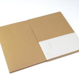 經濟牛卡71T / 軋型(米線刀) / 手工成型 書腰:富麗卡128g / pantone 873U / UV印刷
