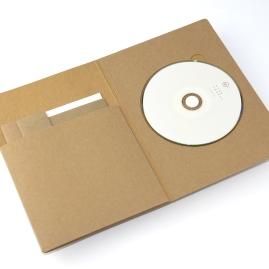 經濟牛卡71T / 打凸+軋型 / 手工成型 光碟:白墨+ pantone 873U(網版)
